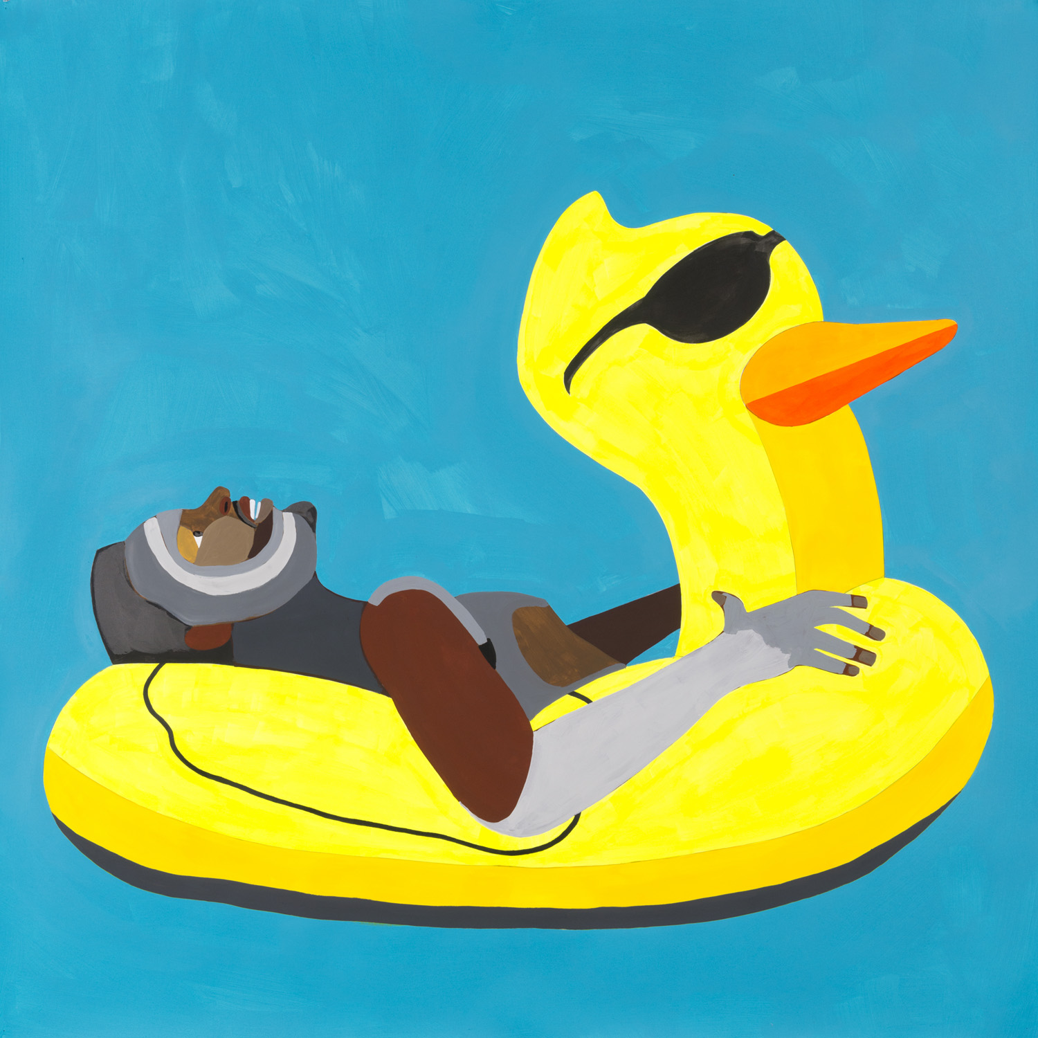 Floater 50 (ducky with glasses)